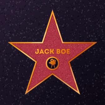 Stern mit namen für die ehrung des schauspielers