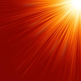 Stern platzte rotes und gelbes feuer.