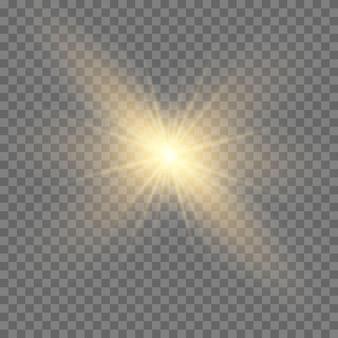 Stern platzte vor funkeln. sonne.