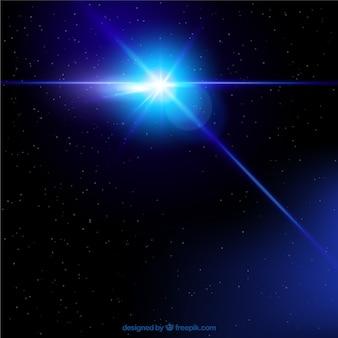 Stern scheint in den himmel
