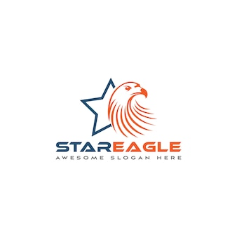 Stern und adler logo vorlage