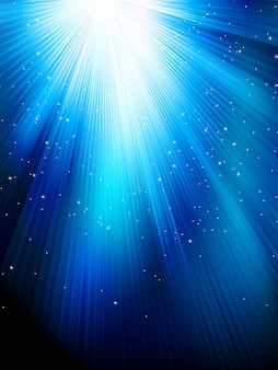 Sterne auf blau gestreiftem hintergrund. festliches muster ideal für winter- oder weihnachtsthemen. datei enthalten