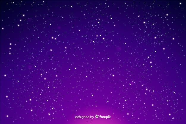 Sterne auf einem steigungsnachthimmel
