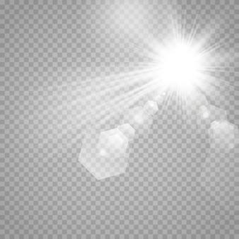 Sterne auf einem transparenten weißen und grauen hintergrund auf einem schachbrett.