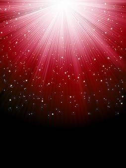 Sterne auf rot gestreiftem hintergrund. festliches muster ideal für winter- oder weihnachtsthemen. datei enthalten