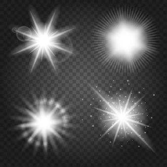 Sterne auf transparentem hintergrund gesetzt