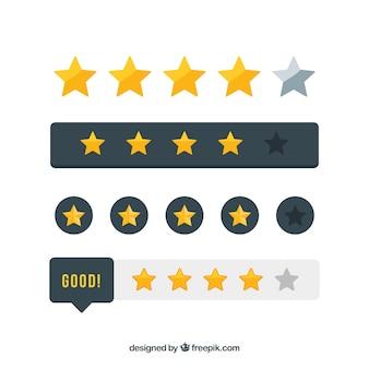 Sterne bewertungselemente