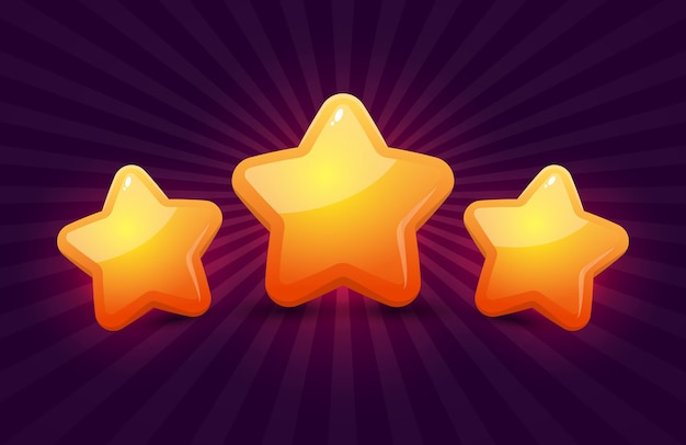 Sterne für spiele. ui-spieldesign.