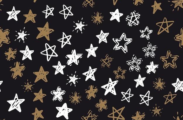 Sterne handgezeichnete illustrationen