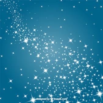 Sterne in einem blauen himmel