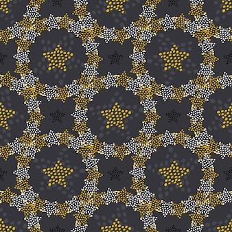 Sterne kritzeln nahtloses muster. kindischer modehintergrund für textilverpackung oder tapete