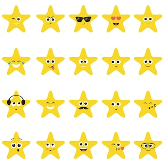 Sterne mit smileys