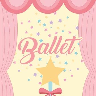Sterne zauberstab funkelt vorhang ballett dekoration