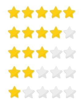 Sternebewertung bis zu fünf