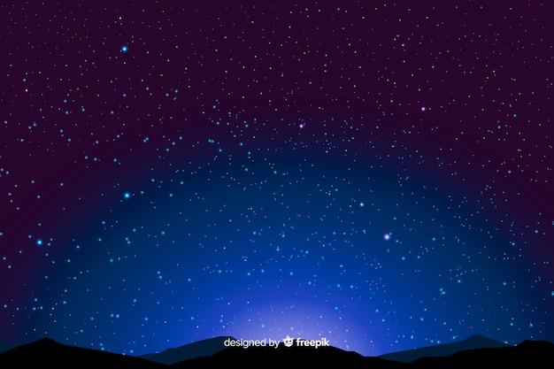 Sternenklare nacht der hintergrundsteigung