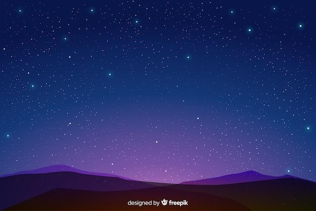Sternenklare nachthintergrund der blauen steigung