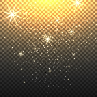Sternenstaub mit transparentem hintergrund