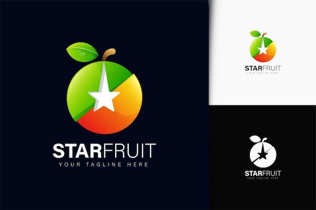 Sternfrucht-logo-design mit farbverlauf