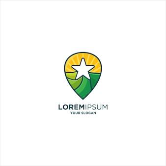 Sterngrünes landnadel-logo ...