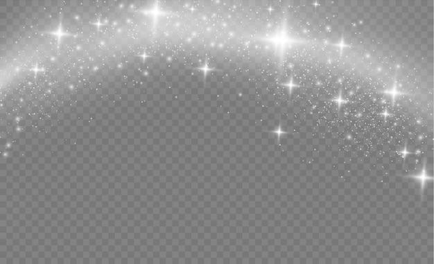 Sternstaub funkelt in einer explosion.