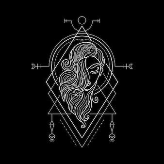 Sternzeichen jungfrau geometri-stil