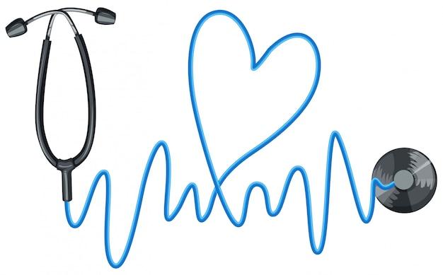 Stethoskop als symbol für gute gesundheit