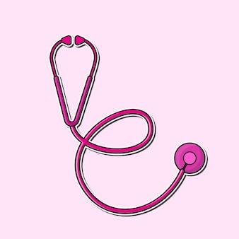 Stethoskop für medizinische untersuchungsvektoren