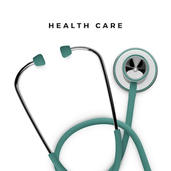Stethoskop in der 3d-renderillustration