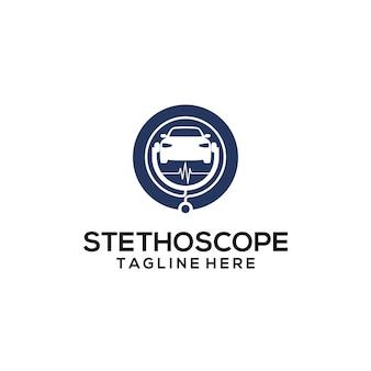 Stethoskop-logo-konzept-vektor. stethoskop-logo-vorlagenvektor