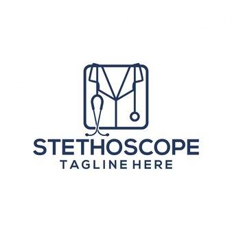 Stethoskop logo vorlage
