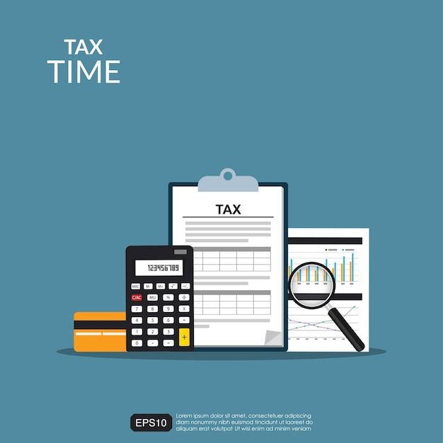 Steuerbuchhaltungsformular konzept