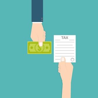 Steuererstattung-symbol