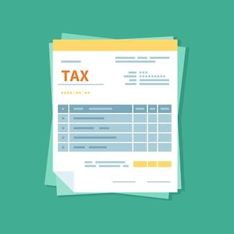 Steuerformular. ungefüllte minimalistische form des dokuments. zahlung und rechnungsstellung, finanzgeschäfte