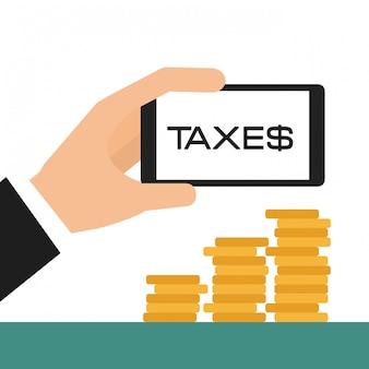 Steuern konzept