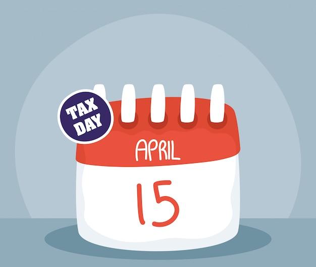 Steuertag illustration mit kalendererinnerung