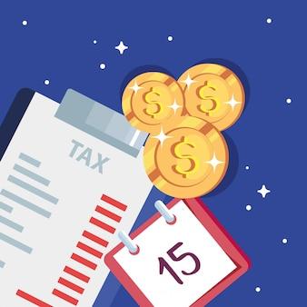 Steuertag illustration mit zwischenablage