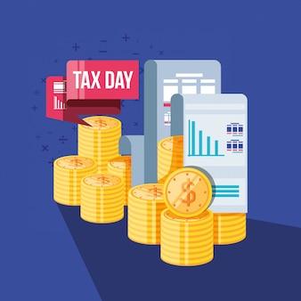 Steuertag mit beleg