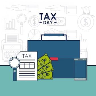 Steuertagesfinanzkarte
