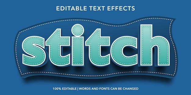 Stich editierbarer texteffekt
