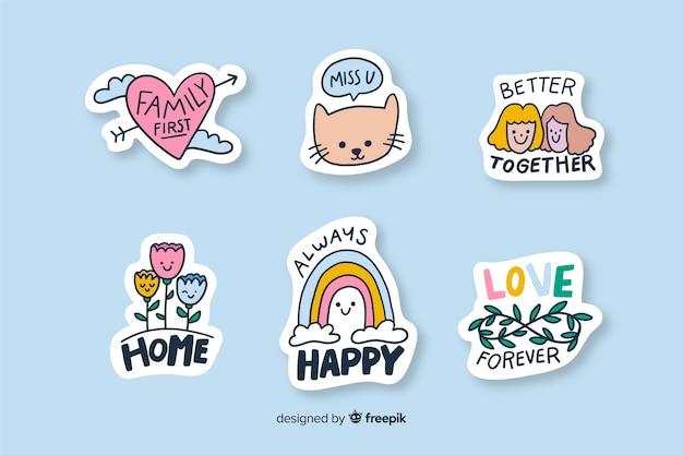 Sticker zum dekorieren verschiedener arten von fotos