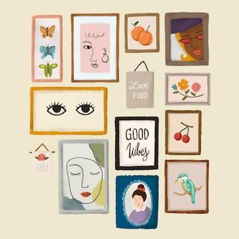 Sticker zur sammlung von erinnerungsrahmen