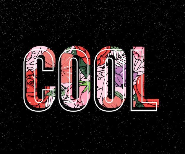 Stickerei seerose blumen. cooler slogan.