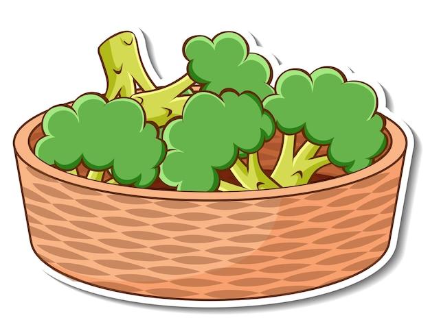 Stickerkorb mit vielen brokkoli