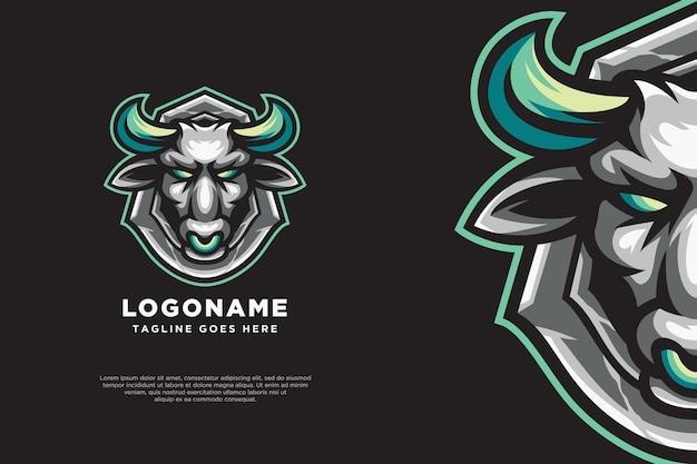 Stier-logo-maskottchen-design