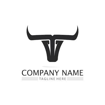 Stierbüffelkopf, kuh, tiermaskottchen-logo-designvektor für sporthornbüffel, tier, säugetiere, kopflogo, wild, matador