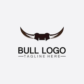 Stierhornlogo und symbolschablonensymbole app