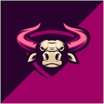 Stierkopf-logo für sport- oder esportmannschaft.