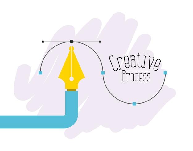 Stift grafikwerkzeug kreativprozess