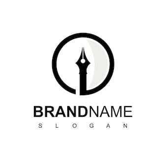 Stift-logo-design-vektor
