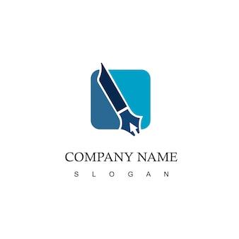 Stift logo vorlage anwaltskanzlei und schriftsteller symbol